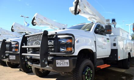 ONCOR Delivers New Truck to Celeste, Texas                      By Jim Satterwhite
